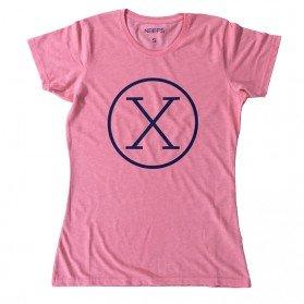 Camiseta X Coral Mujer