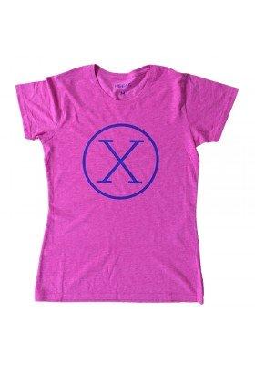 Camiseta X Fucsia Mujer