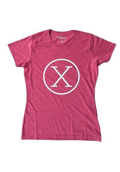 Camiseta X Roja Mujer