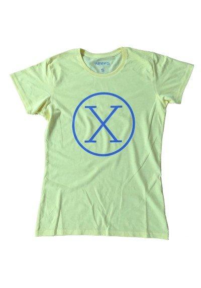 Camiseta X Amarilla Mujer