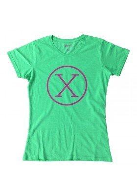 Camiseta X Verde Mujer