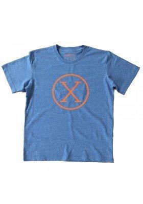 Camiseta X Azul Niño