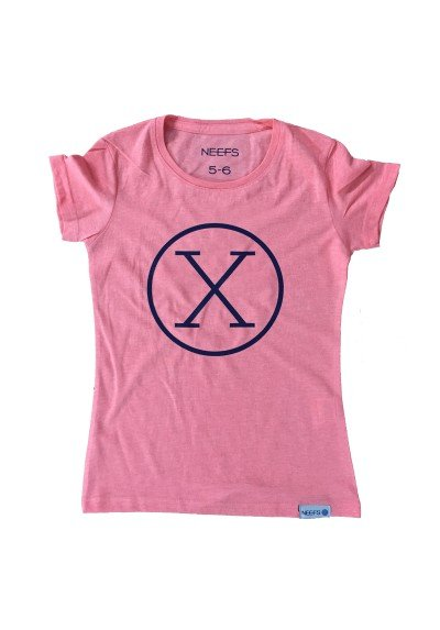 Camiseta X Coral Niña
