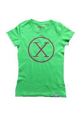 Camiseta X Verde Niña
