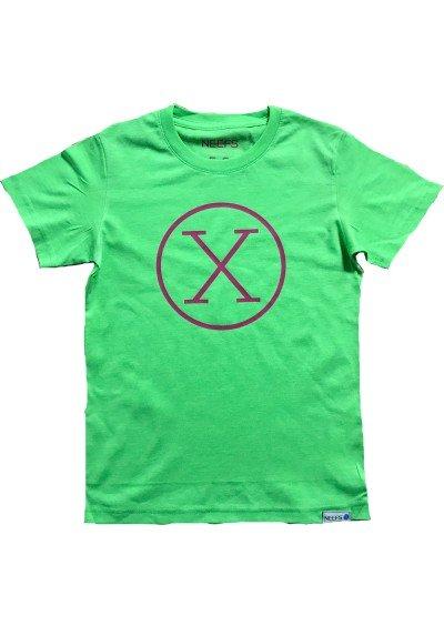 Camiseta X Verde Niño