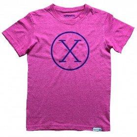 Camiseta X Fucsia Niño
