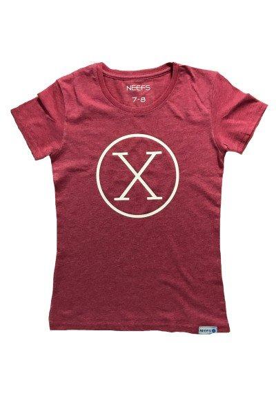 Camiseta X Roja Niña
