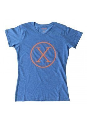 Camiseta X Azul Mujer