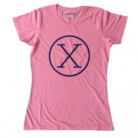 Camiseta X Coral Mujer