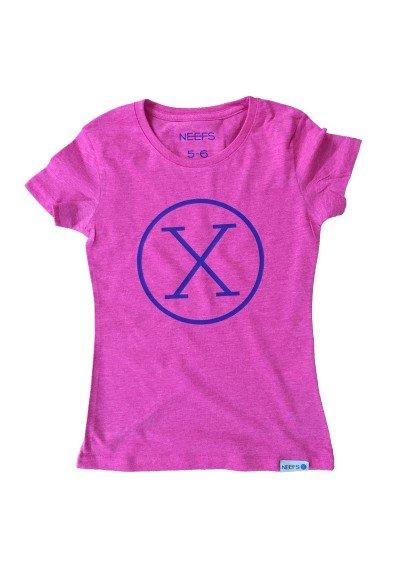Camiseta X Fucsia Niña