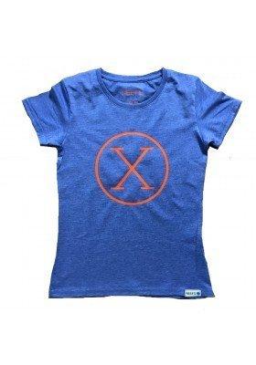 Camiseta X Azul Niña