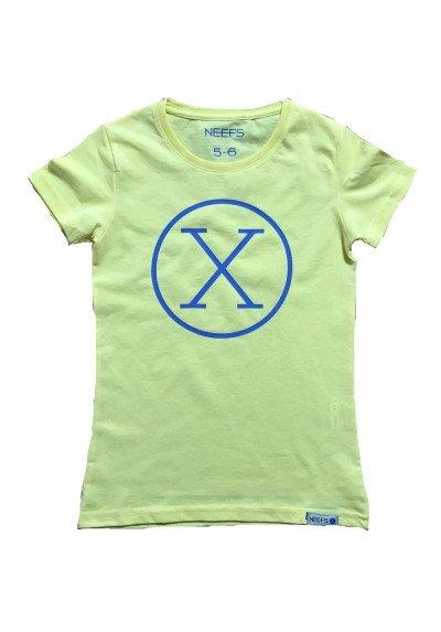 Camiseta X Amarilla Niña