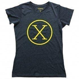 Camiseta X Antracita Mujer