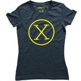 Camiseta X Antracita Niña