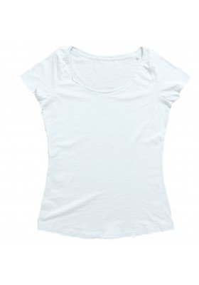 Camiseta DENIM Blanca Mujer