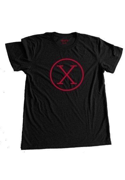 Camiseta X Negra Niño