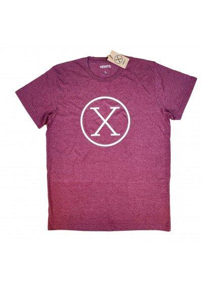 Camiseta X Granate