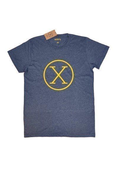 Camiseta X Azul Vaquero